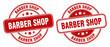 barber shop stamp. barber shop label. round grunge sign