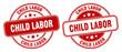 child labor stamp. child labor label. round grunge sign