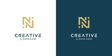 Minimalist Elegant Letter N Logo Design Premium