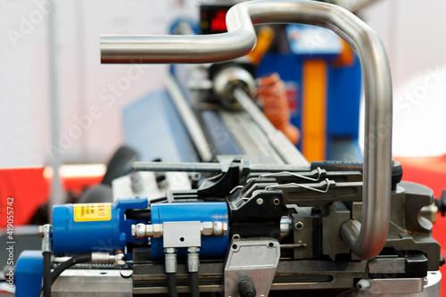 industrial CNC pipe bending machine close up Fototapete
