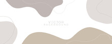 Trendy Soft Organic Cover Design. Abstract Pattern Design In Modern Style For Social Media Template, Fabric Prints, Wallpaper And Other. Eps 10 Vector