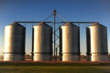 Steel And Chrome Industrial Grain Silo