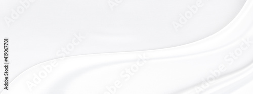Obraz White gray satin texture that is white silver fabric silk background with beautiful soft blur pattern natural. - fototapety do salonu