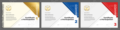 Foto Certificate template sport theme with border frame, Diploma design