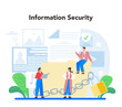 Computer security specialist. Idea of digital data protection and safety.