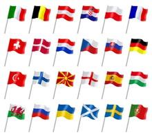 Drapeaux Des Pays Européens Participant à La Coupe 2021