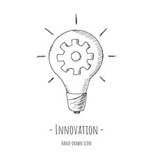 Innovation Icon. Vector Illustration. Isolated On White.