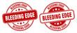 bleeding edge stamp. bleeding edge label. round grunge sign