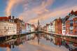 Bruges, Belgium Canals at Dusk