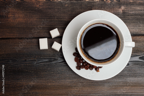 Fototapeta sweets on the table cookies gingerbread cookies a cup of coffee obraz