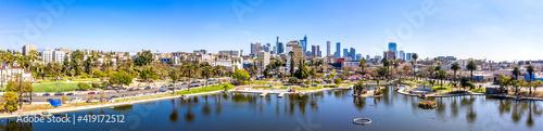 Fotografiet Downtown Los Angeles skyline