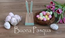 Decorazione Di Pasqua Con Il Testo Buona Pasqua