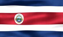 Costa Rica Flag - Realistic Waving Fabric Flag