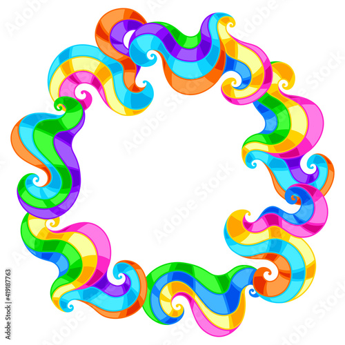 Frame with abstract colored swirls. © incomible