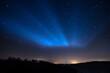 canvas print picture - Sternenhimmel bei nacht