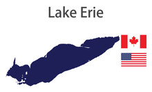 Silhouette Of A Large World Lake, The Erie