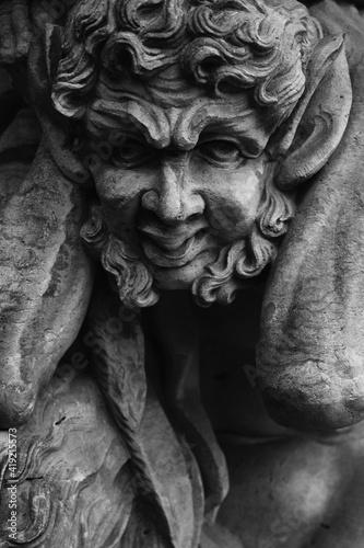 Fotografie, Obraz Antique statue of Faunus (Satire)