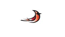 Creative Red Bird Cardinal Abstract Logo Design