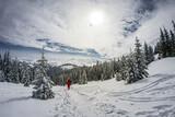 Fototapeta Na ścianę - Tatry Zachodnie - droga na Grzesia zimą