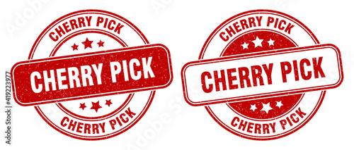 Fotografie, Obraz cherry pick stamp. cherry pick label. round grunge sign