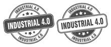 Industrial 4.0 Stamp. Industrial 4.0 Label. Round Grunge Sign