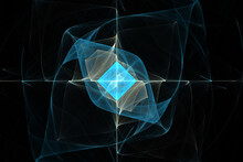 Single Diamond Fractal Collection 6K Digitally Rendered Mathematical Fractal Wallpaper & Background