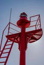 Vendée, France; February 19, 2021: Photo Of The Lighthouse Platform At The Entrance To The Saint Gilles Croix De Vie Channel.