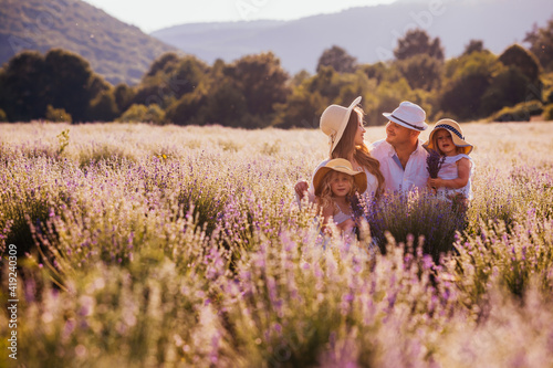 Fotografia, Obraz Wonderful family vacation on a country farm