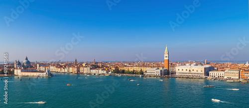 Fotografiet Venetian Lagoon from the San Giorgio Maggiore monastery tower