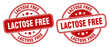 lactose free stamp. lactose free label. round grunge sign