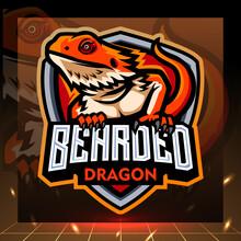 Bearded Dragon Mascot. Esport Logo Design
