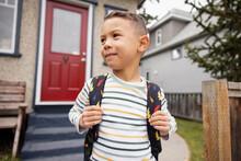 Portrait Of Boy At Porch