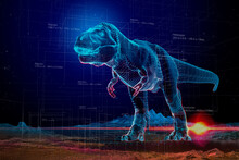 VR T-Rex Dinosaur Holographic Projection