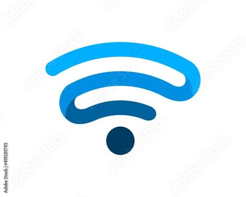 Fotografía Modern WIFI symbol in blue colors