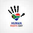 canvas print picture - Human Rights Day. Africa national flag love