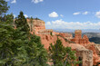 Landscape view of the red sandstone hoodoos at Bryce Canyon National Park