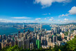 Victoria Harbor view from the Peak at day, Hong Kong