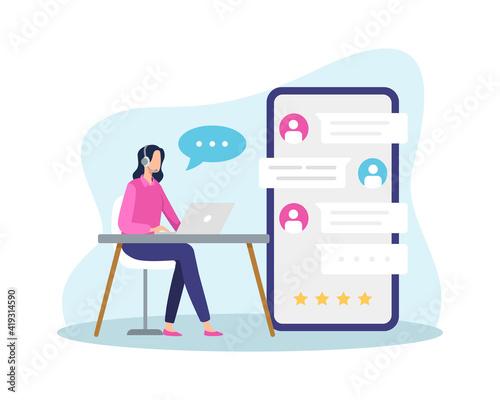Fotografia Online customer support illustration