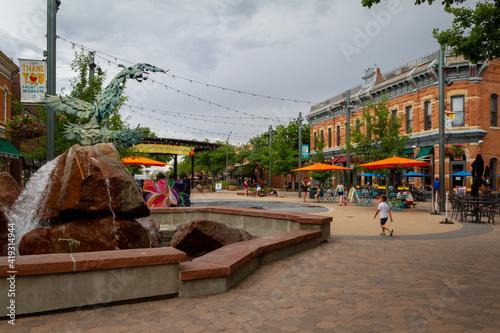 Slika na platnu Downtown_Fort Collins Colorado