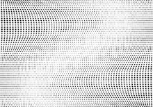 Light Halftone Dots Grunge Wide Background