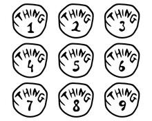 Think One Think Nine Svg, Think 1 Think 9 SVG, Think One Bundle, Dr SVG, Seuss Svg Teacher, Instant Digital Download Files