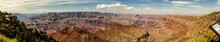 Panorama View Of Nature, Clouds Canyons And Hills Of South Rim Grand Canyon National Park In Colorado, America