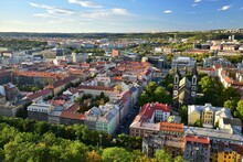 Picture Of Prague's New Town, Central Bohemia, Czech Republic, With St Cyril And Methodius Cathedral.