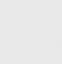 White Ceramic Tile Herringbone Seamless Pattern.  Parquet Texture.