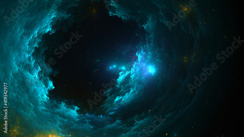 Fotomural 3d effect - abstract space scene
