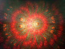 Abstract Horizontal Background. View Of A Kaleidoscope