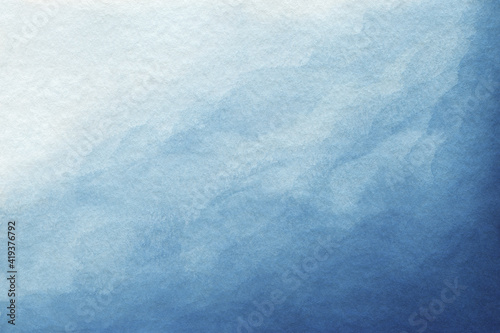Obraz Blue azure turquoise abstract watercolor background for textures backgrounds and web banners design. Abstract  background blue colors. Watercolor painting with turquoise sea waves pattern gradient. - fototapety do salonu