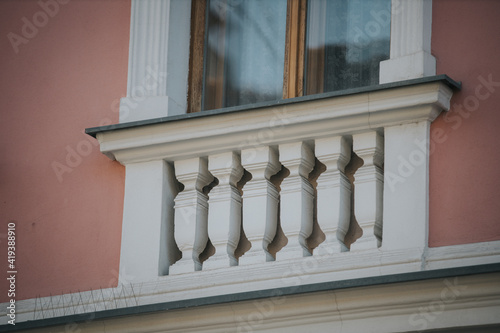 Fotomural Balcony of an old building with white balusters