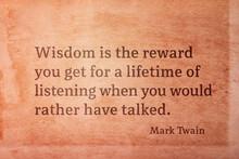Wisdom Is The Reward Twain