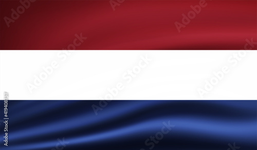 Canvas Print Grunge Netherlands flag